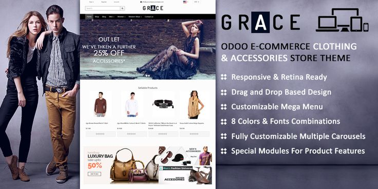 GRACE Clothing & Accessories Store #Theme for #Odoo #v8 E-commerce