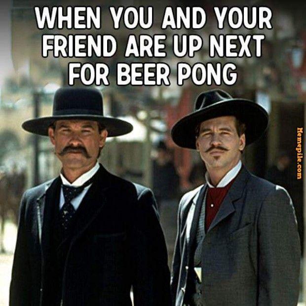 beer pong friends meme
