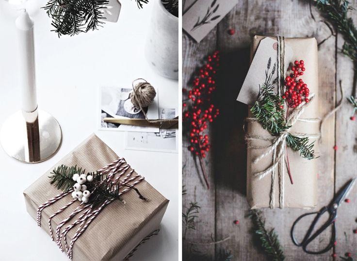 DIY: 10 vackra och enkla sätt att slå in julens paket