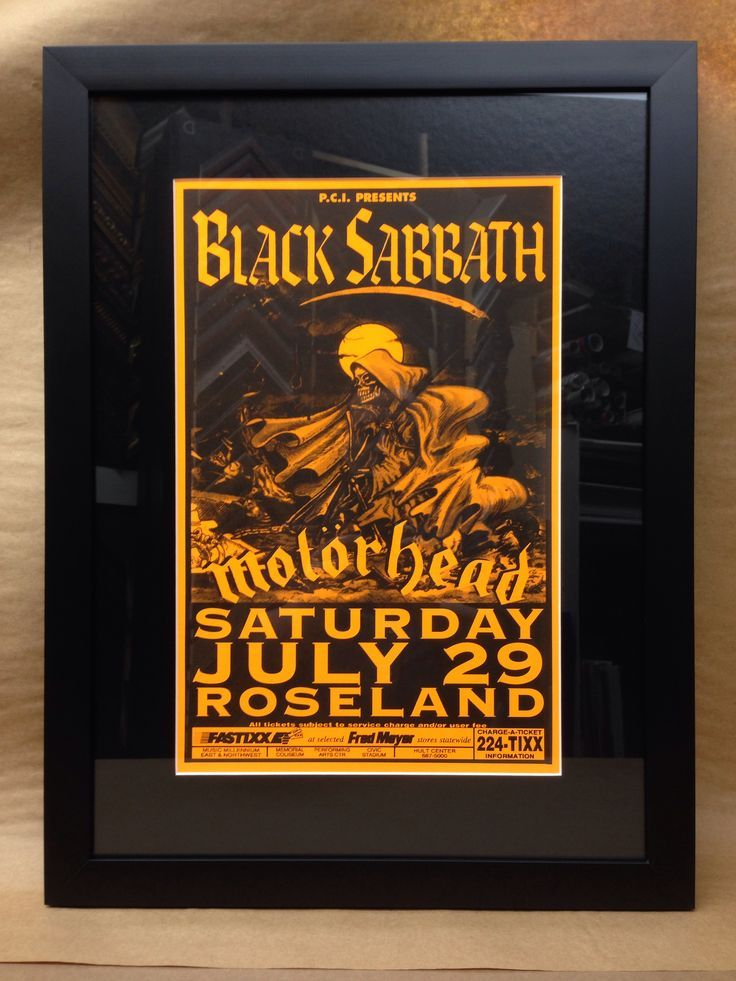 black sabbath concert posters black sabbath concert poster framing by ptgallerycom