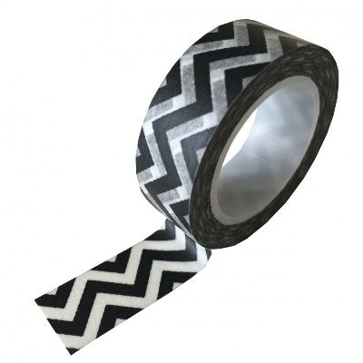 Zwart wit zigzag washi-tape.