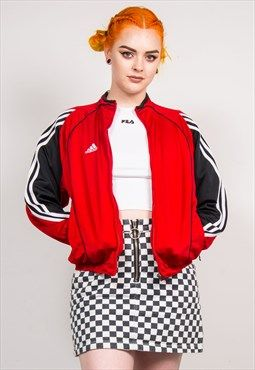 90's Adidas Vintage Red Tracksuit Jacket Top