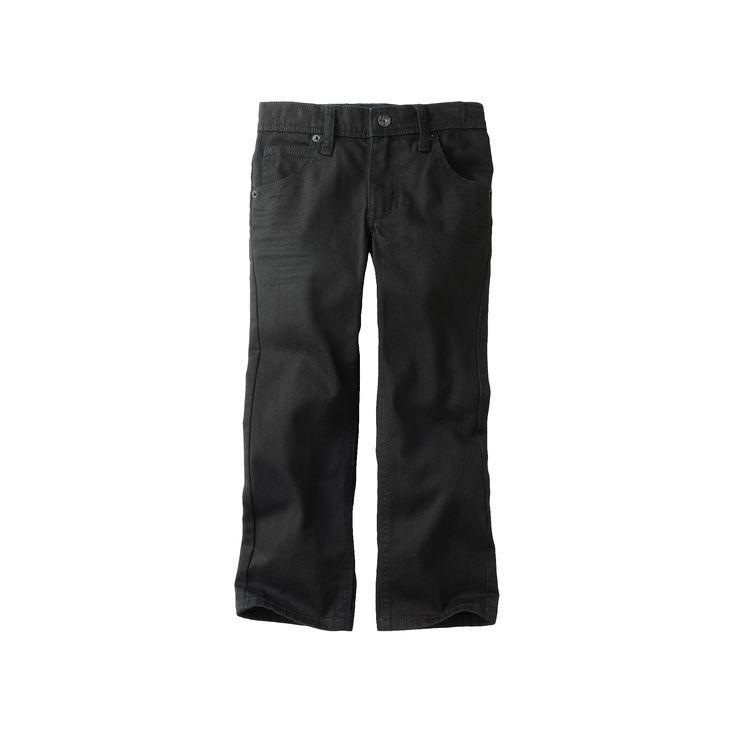 Boys 4-7x Lee Dungarees Black Skinny Jeans, Boy's, Size: medium (5)