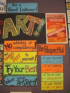 I like these for Art Room Rules