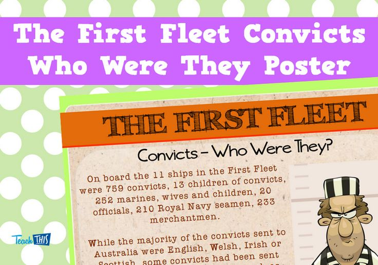 The First Fleet Convicts Who Were They Poster