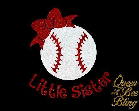 Baseball Little Sister Shirt Glitter Vinyl by TheQueenBeeBling