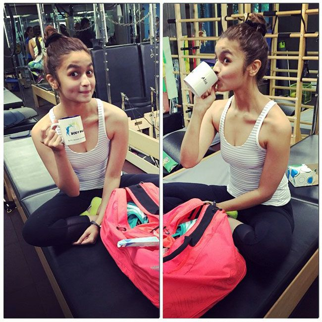 Alia Bhatt posting a picture from her training session on #Instagram. #Bollywood #Fashion #Style #Beauty