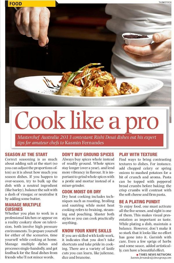 Interview with Rishi Desai, Masterchef Australia 2012 contestant from India on how to cook like a pro | January 5, 2014, Times Life #cooking #food #RishiDesai #MasterchefAustralia #interviews