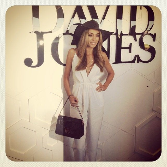 Caulfield Cup David Jones: Nadia Coppolino with mimco bag