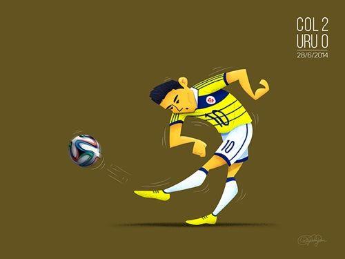7. La sobresaliente actuación del colombiano James Rodríguez, que a sus 25 años fue la revelación del Mundial e incluso fue nominado al Balón de Oro.