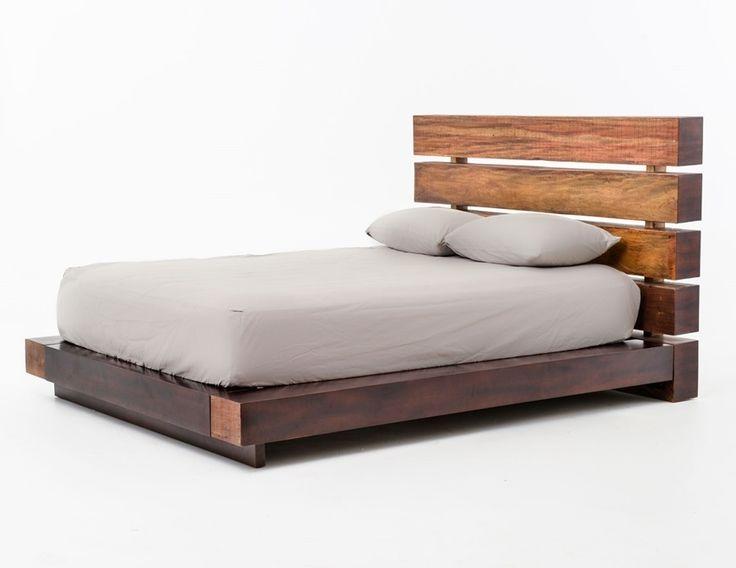 bina iggy king platform bed reclaimed wood platform bed frame zin home - Wooden Platform Bed Frames
