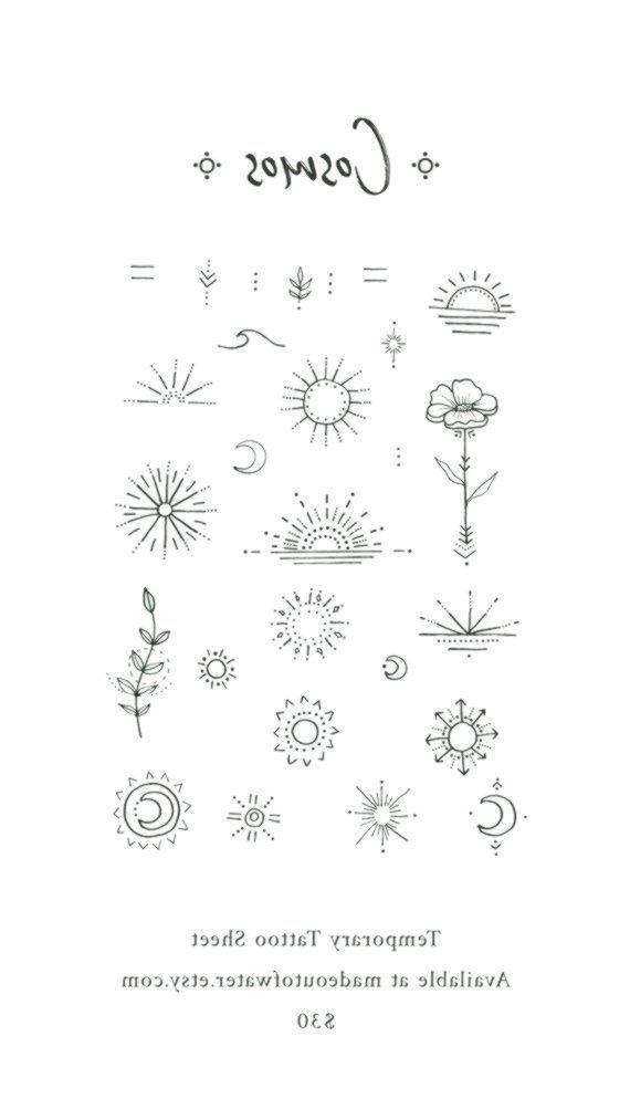 Cosmos Temporares Tattoo Sheet Tattooedgirls Cosmos Flower Inspirational Cosmo Small Tattoos Small Girl Tattoos Diy Tattoo