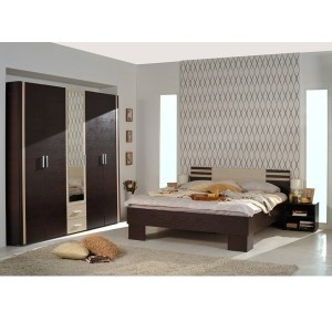 Dormitor Lena, pat cu doua noptiere