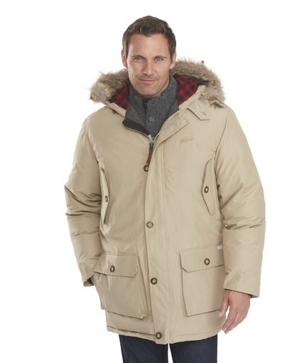 men 39 s arctic down parka in khaki by woolrich the original outdoor. Black Bedroom Furniture Sets. Home Design Ideas