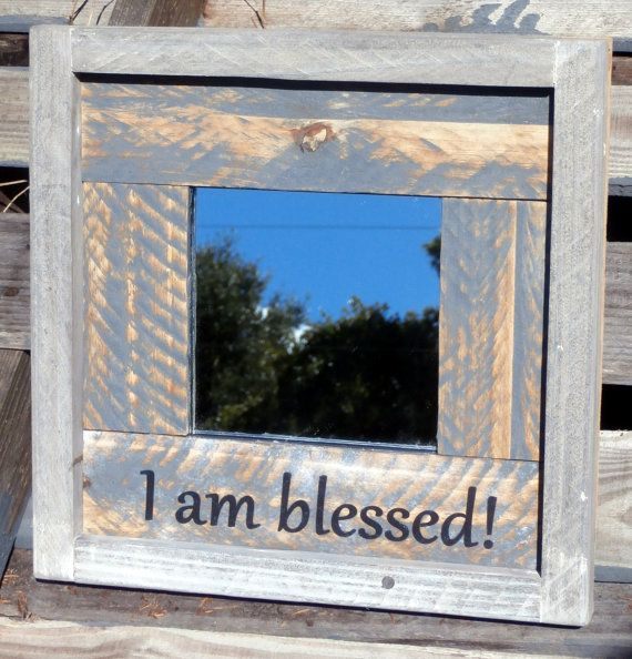 I Am Blessed Positive Self Affirmations Wall by RusticForestStudio