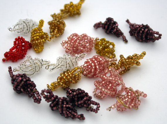 Vintage Seed Bead Lot  Red Yellow Clear Purple by ThisPurplePoppy, $1.50