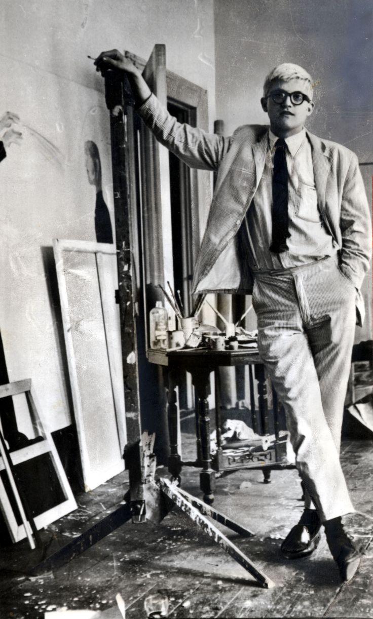 young David Hockney.