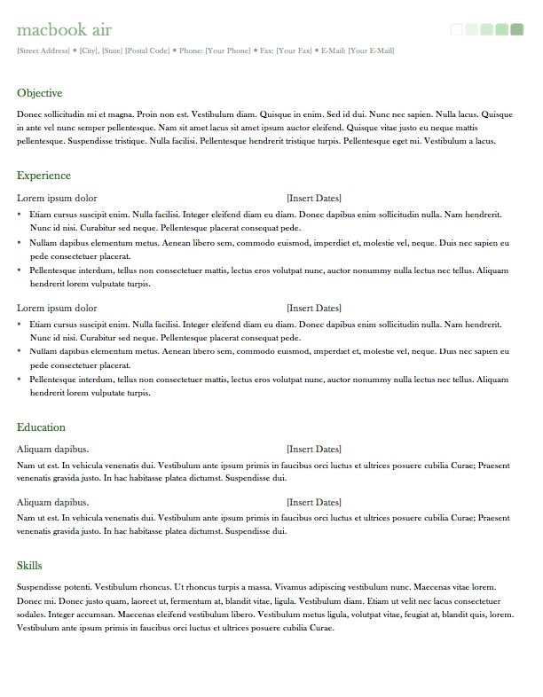 resume template for office mac 2011 http resumesdesign