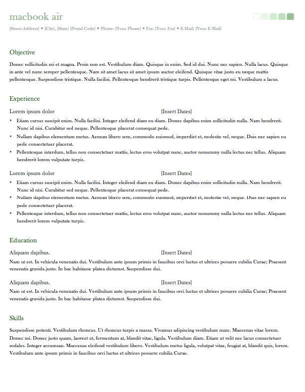 office mac templates