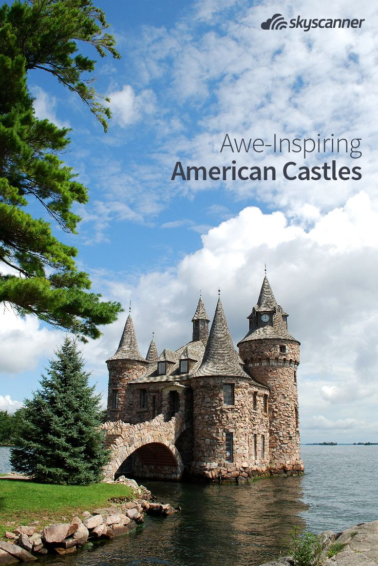 Castles usually conjure up far-away images of grand European destinations. But did you know there are castles right in our backyard? Check out these amazing American castles.