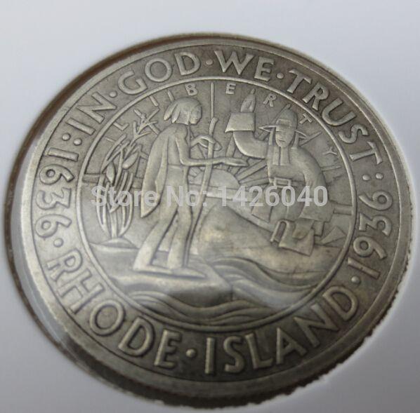 1936 S Род-Айленд Серебряный Полдоллара