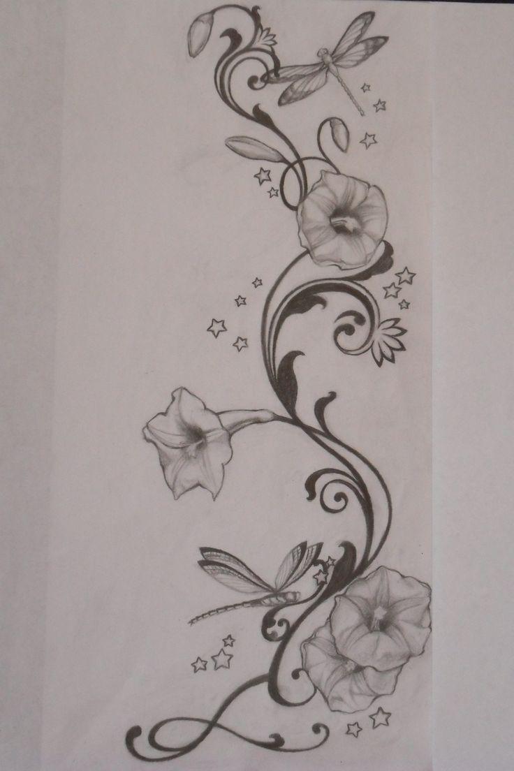 Morning Glory Vine Stencils : Best flower vine tattoos ideas on pinterest rose