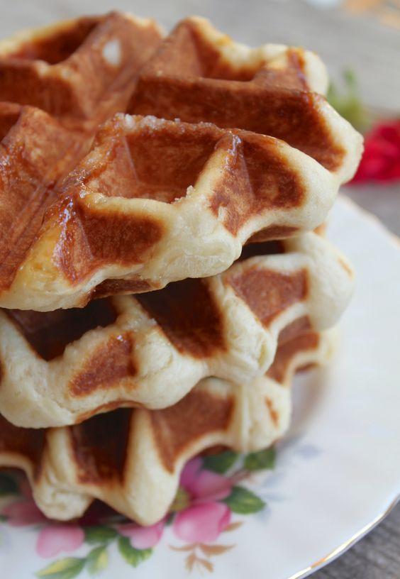 Three Authentic Belgian Waffles (Belgian recipe)