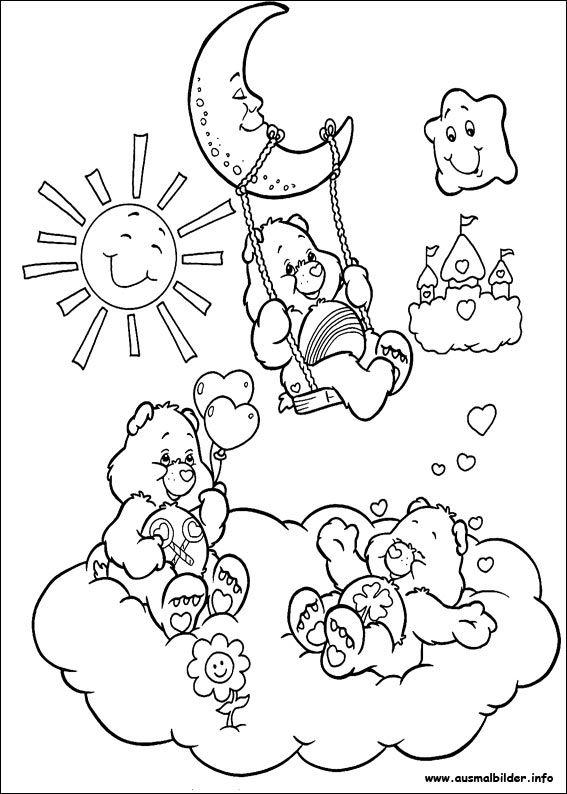 die glücksbärchis malvorlagen  bear coloring pages