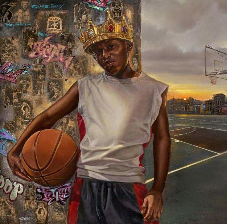 A new KING has been crowned ..Congrats to The Cleveland Cavaliers. . KINGS of The NBA #artbywak Rodney Orko Wade collabo