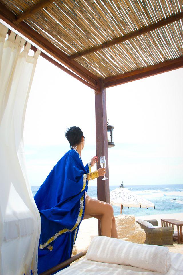 Blue robe for over bikini....love it