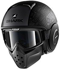 The Shark Raw bridges the gap between the traditional full faced helmet, and the half shell open face helmet. This hybrid motorcycle helmet has got style.