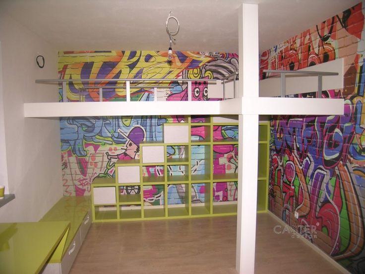 Dětské patrové postele a design Caster