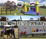Hee-Haw Party Farmyard have three spacious lapas where you can host your party. You are welcome to bring your own eats and treats or we can do catering for you. Our facilities include, jungle gyms, swings, sandpits, jumping castle, volleyball court, bike track, quad trailer rides and more. Children can feed and touch our animals and enjoy pony rides.