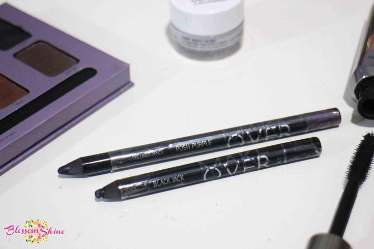 Ultraviolet Makeup - The Makeover Gel Eyeliner in Black Jet & Purple . #blossomshine #makeup #makeuphaul #eyeliner #gelliner #geleyeliner #penciliner #makeovercosmetic #flatlay