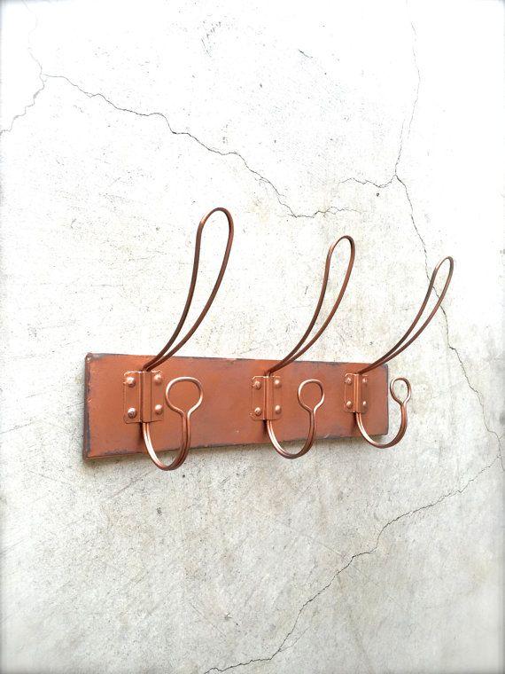 Copper Coat Rack, Coat Hooks, Wall Hook Rack, Wall Hooks, Copper Wall