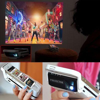 Vidéoprojecteur DLP HDMI pour iPhone 6 iBeam i60 120 lumens Batterie 3000mAh 60 pouces de projection