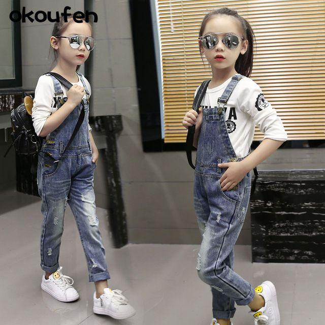 okoufen nueva moda de primavera y otoo nias jean trajes de marca nios ropa de