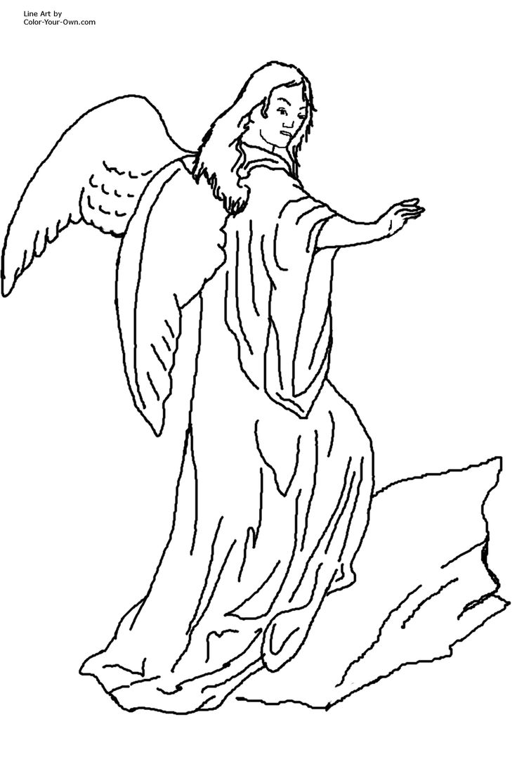 Wordless book coloring pages - Angels Coloring Pages