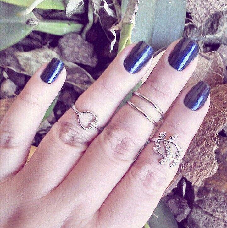 Conjuntos de anéis de falange e outros modelos de volta em estoque ❤ venha conferir ❤ http://pepot.com.br  #moda #aneis #falange #biju