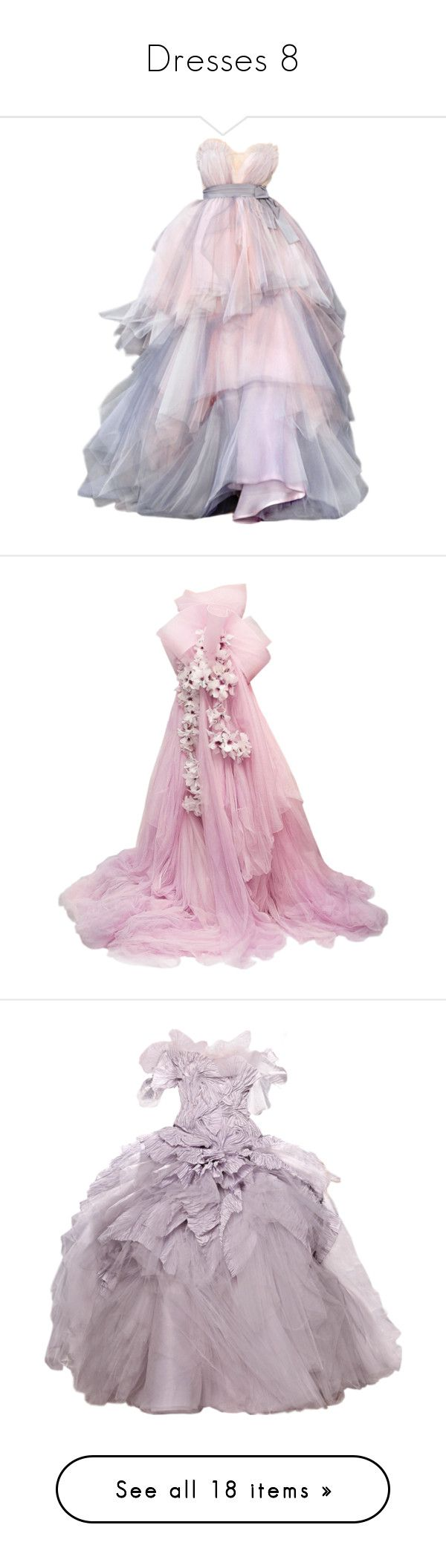 """Dresses 8"" by soenticing ❤ liked on Polyvore featuring dresses, gowns, vestidos, long dresses, pink evening gowns, pink ball gown, pink evening dress, pink dress, marchesa and marchesa dresses"