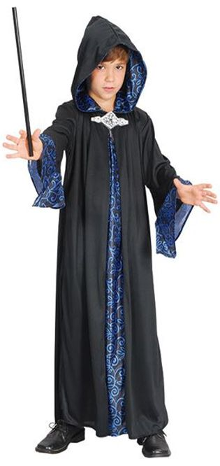 Childs Wizard Robe. Harry Ptter World Book Day kids fancy dress costume www.partypacks.co.uk
