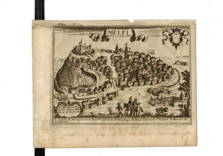 "STAMPA PACICHELLI ""MELFI"" BASILICATA 1634 - 1695   eBay"