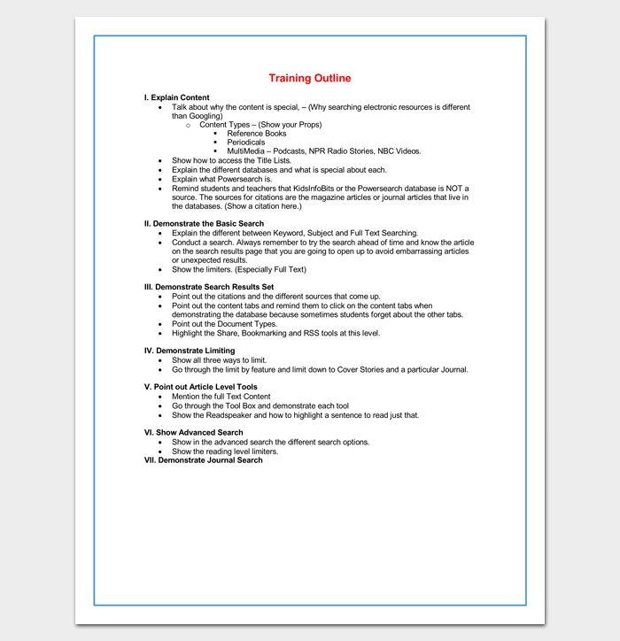 Más de 25 ideas increíbles sobre Outline format en Pinterest - training outline template