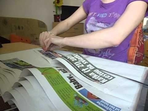 youtube: video on rolling newspaper for basket (no verbal instructions) motanie ruličiek od Lenušky