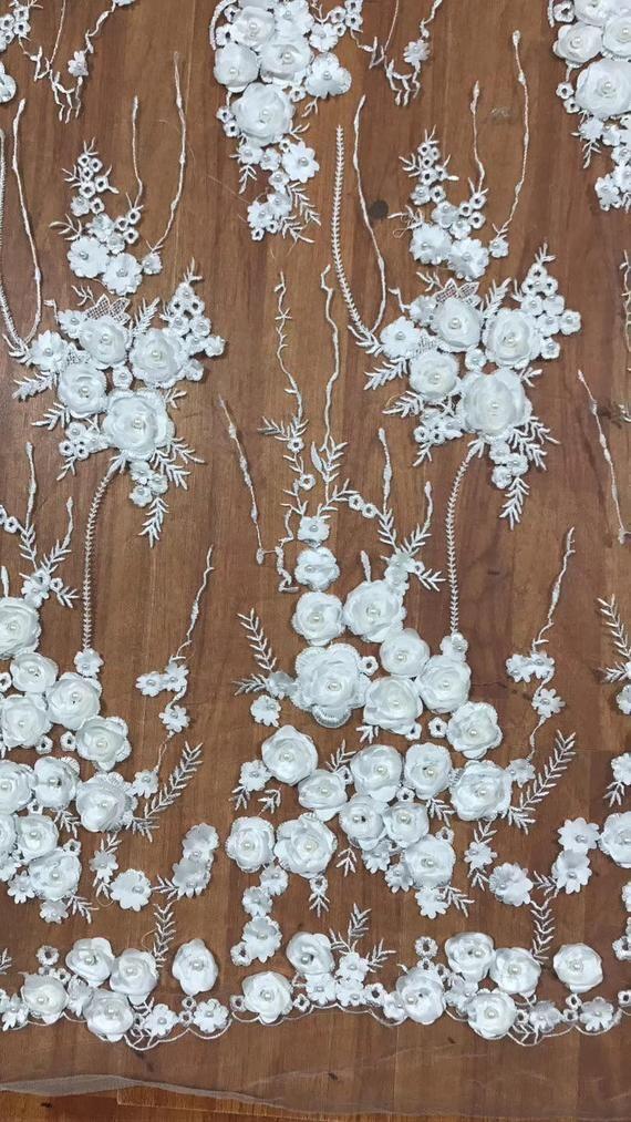 """2/"""" Large Tulle Brodé Tulle-Floral Bordure en Dentelle Tailler dans 6 Couleurs"""