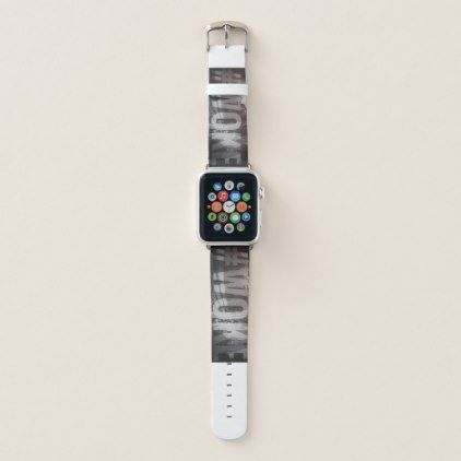 #WOKE Red Black & Gray - Apple Watch Band 38mm Apple Watch Band - red gifts color style cyo diy personalize unique