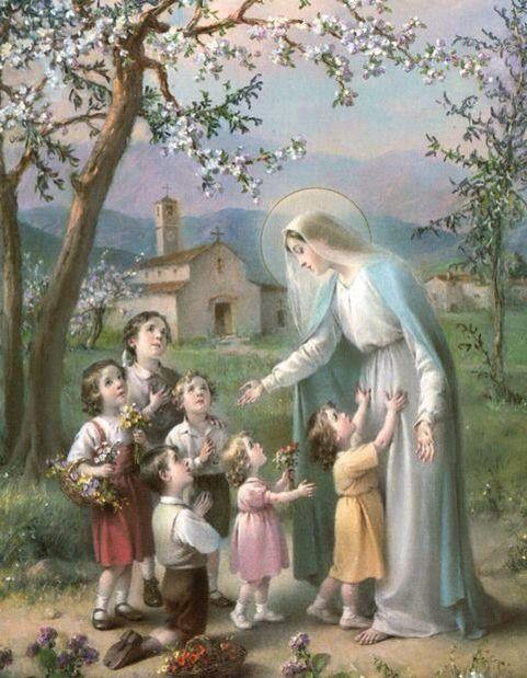 Mary's garden. LOS NIÑOS SON FLORES, EN EL JARDÍN DE MARÍA                                                                                                                                                      More