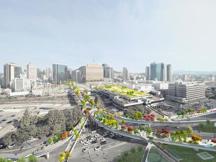 '서울 스카이가든'으로 명칭된 서울역고가도로 공원화 프로젝트는 254종의 다양한 나무, 관목, 꽃들로 이루어진 도시 식물원을 구현, 서울을 대표하는 공중공원 형성을 목표로 한다. 새로운 오버패스(공중가로)는 또한 이웃한 서울역까지의 도보시간을 25분에서 11분으로 단축하며 현실적인 리노베이션 비용과 경제적인 유지관리의 이점을 확보한다. 기존 고가도로는 70년대 남대문 시장의 원활한 운송수단 확보를 위해 건립 서..