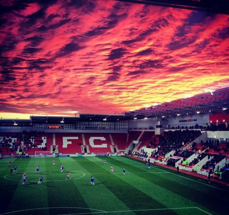 Red sky at night, Millers delight!  The sky over New York Stadium, Rotherham United FC
