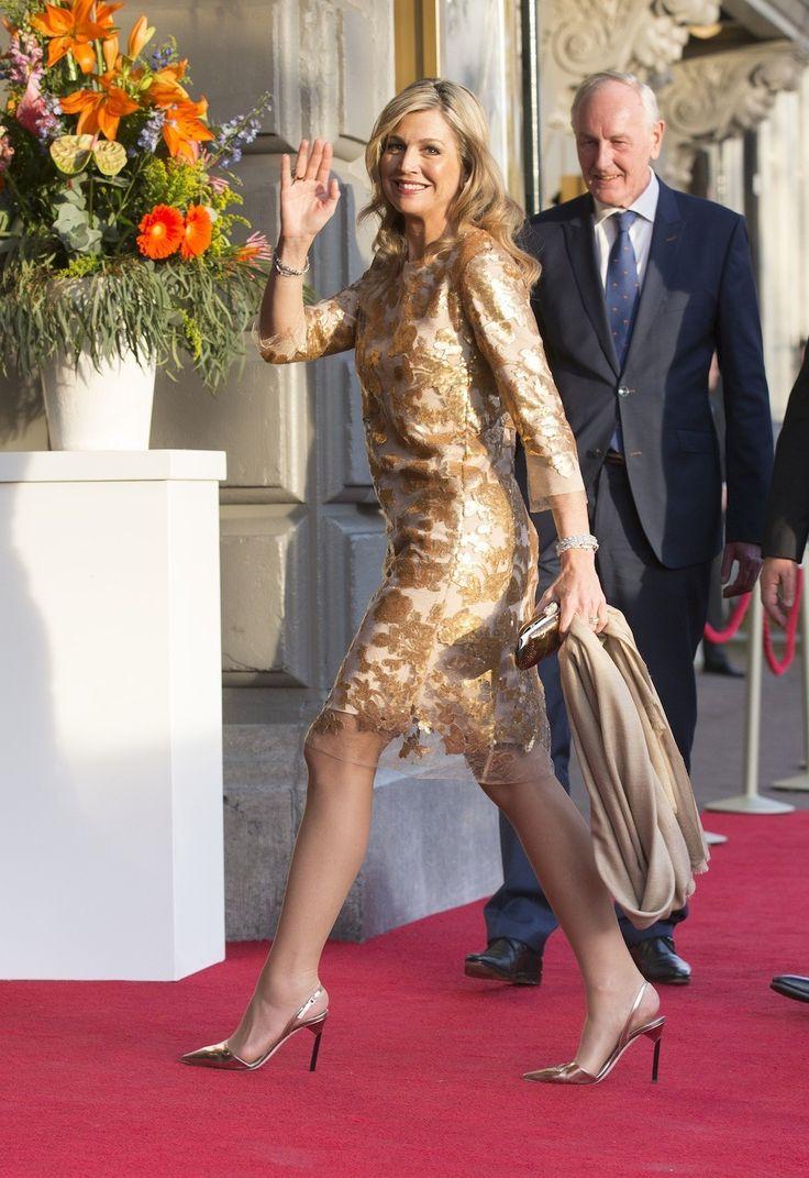 Queen Maxima wearing Natan and Jimmy Choo heels - VOGUE Nederland